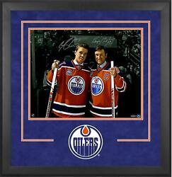 Connor Mcdavid And Wayne Gretzky Oilers Dlx Frmd Signed 16 X 20 Photo - Le 100