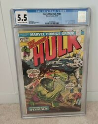 The Incredible Hulk 180 Cgc 5.5 1st Appearance Of Wolverine In Cameo 1974