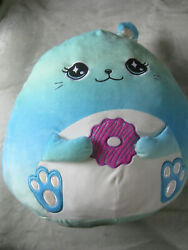 Large Squishmallow Pillow Justice 16 Donut Blue Ombre Bunny Cute