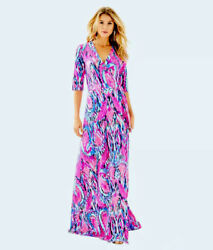 Lilly Pulitzer Nwt Marvista Wrap Maxi Dress Free Spirit Size S Most Wanted List