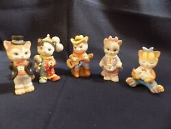 Lot Of 5 Bc Bronson Collectibles Cat / Kitten Figurines 1993 / 1994 - Excellent