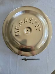 Vintage Nos1980and039s Nos Mr Gasket Gold Anodized 14 Air Cleaner