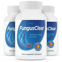 3 Pack Fungus Clear Probiotic Supplement Pills - Fights Toe Fungus - 180ct