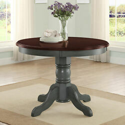 Farmhouse Dining Table Round French Country Kitchen Rustic Dinning Antique Sage