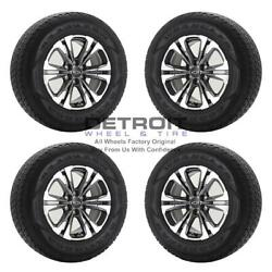 17 Chevrolet Colorado Machined Grey Wheels Rims And Tires Oem Set 4 2021-202...