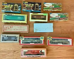 Ho Vintage Model Trains Lot In Box Athearn, Bachmann, Tyco, Cox, Life-like + D9