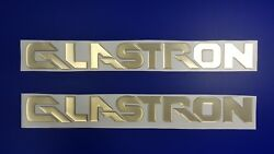 Glastron Boat Emblems 22 Gold + Free Fast Delivery Dhl Express