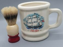 Ever Ready Shaving Brush And Old Spice Shaving Mug Collectible Grand Turk