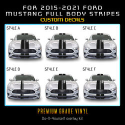 For 2015-2021 Mustang Full Body Rally Racing Stripes Graphic Decal - Gloss Vinyl