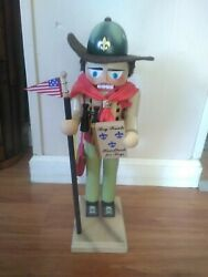 """Steinbach Boy Scout 16"""" Wooden Nutcracker Germany Christmas With Original Tags"""