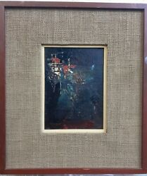 Roger San Miguel Oil Painting On Board Abstract Gem Elegant Frame 16x14