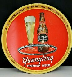 D G Yuengling And Son Beer Ale Porter Black Label Metal Vtg Tray - Pottsville, Pa