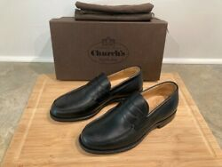 Churchand039s English Wesley Black Nevada Leather Calf Loafer Shoes