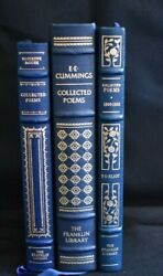 Collected Poems Franklin Library Book Lot - Ee Cummings Marianne Moore 1909-1962