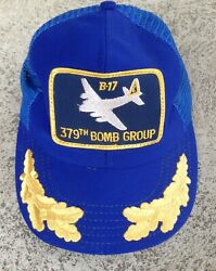 Vintage B-17 379th Bomb Group Squadron Adjustable Cap Hat One Size Fit Usa
