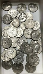 1970and039s Washington Quarter Unsearched Roll 10 Roll Of 40 - [free Shipping]