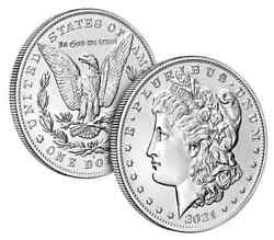 New-buy Here 1-2021 1-set Of Morgan Silver Dollar 1-s And 1-d Coins