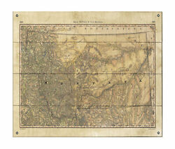 Wagon Roads Old Montana Map Art On Wood/metal Great Vintage Wall Decor And Gift
