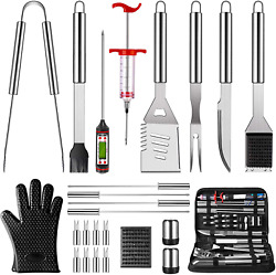 Grilling Accessories Bbq Grill Tools Set Stainless Steel Grilling Barbecue Kit