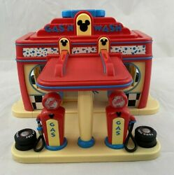 Disney Gas N Wash Car Station Play Set Mickey Mouse Clubhouse Toy