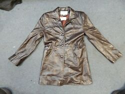 Womenand039s Dero Rocco Dand039amelio Harpers Of Fairfield Leather Jacket Coat Size Small