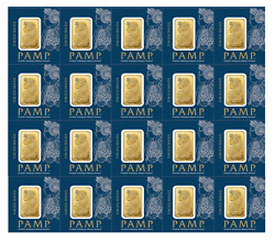 L@@k Pamp | 20 X 1g 20g Gold Multicard Bar Lady Fortuna | Minted Investment