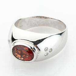 Vintage Ring 14k Gold With An Oregon Sunstone And Diamonds