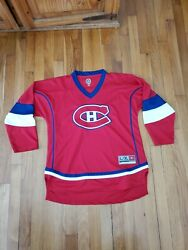 Montreal Canadiens Nhl Offical Sewn Hockey Jersey Kids Youth Size L/xl