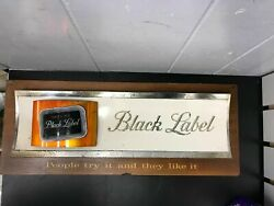 Vintage Carling Black Label Beer Sign People Try It And They Like It Breweriana