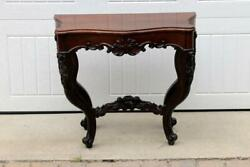 Antique French Style Hardwood Console Table
