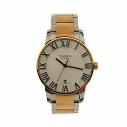 And Co. Atlas Dome Automatic Watch Stainless Steel And Rose Gold 37