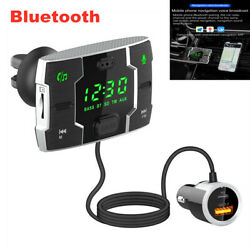 Car Bluetooth Handsfree Fm Transmitter Wireless Stereo Mp3 Player Usb Charger