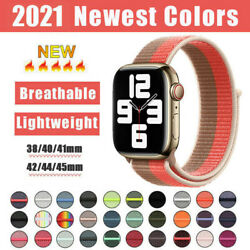 For Apple Watch Series Se/7/6/5/4/3/2 Nylon Sport Loop Iwatch Band Strap 38-45mm