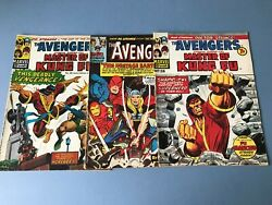 9 X Various The Avengers - Masters Of Kung Fu - 1973-1974.