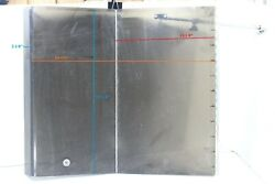 Poly Plexiglass 1/2 Thickness Folding Hatch Hinged Door 24-1/4 L And 22-1/4 W