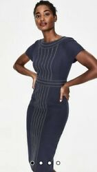 Boden Kitty Textured Dress In Navy Size 6p Nwt