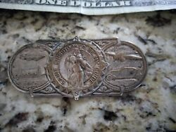 Original 1940 's- 1930s Vintage St Christopher Auto Guide Metal Pin Ford Chevy