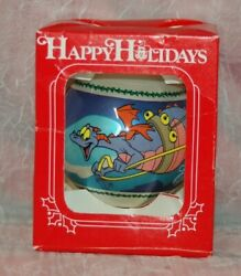 Vintage 1986 Figment Reindeer Mickey Mouse Epcot Center Christmas Ornament