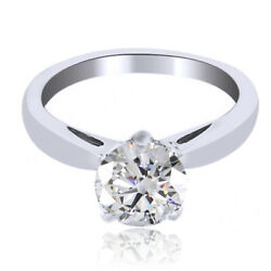 1.38ct Simulated Round Diamonds Antique Accent Ring 18k White Gold