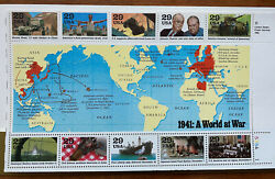 Complete 1941-1945 World War Ii 50th Anniversary Commemorative Set Of Us Stamps