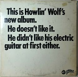 """Howlin Wolf Lp """"this Is Howlin Wolf's New Album"""" Cadet Concept 319"""