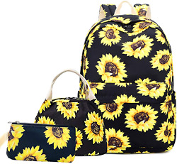 Lmeison Sunflower Backpack for Wemen Teen Girls Floral College Bookbag with and $39.33