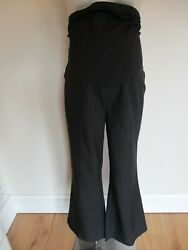 George Maternity Black Over Bump Smart Bootcut Work Trousers Size 18 New