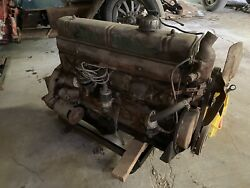1943 Buick 263 Straight Eight Engine 43589271 — Seized, With Bell Housing