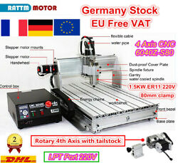4 Axis 1500w 220v Cnc 6040 Router Mach3 Engraver Engraving Milling Machine 1.5kw