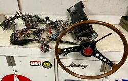 Fiat 124 Sport Spider Wood Steering Wheel Column Switches And Wiring Harness Fuses
