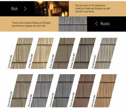 Vinyl Siding Color Samples For Foundry Split Shake Staggered Shake Perfection