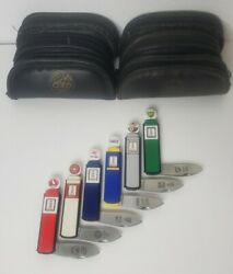 Franklin Mint Gas Pump Knives Lot Of 6 Flying A, White Eagle, Sky Cheif, Sunoco