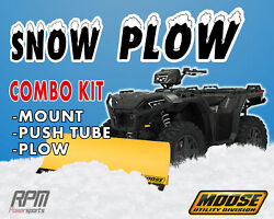 Moose 50 Steel Snow Plow Kit Yamaha Grizzly 350 14 Straight Axle