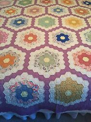 Antique Quilt From 1930's  Used For Display Only